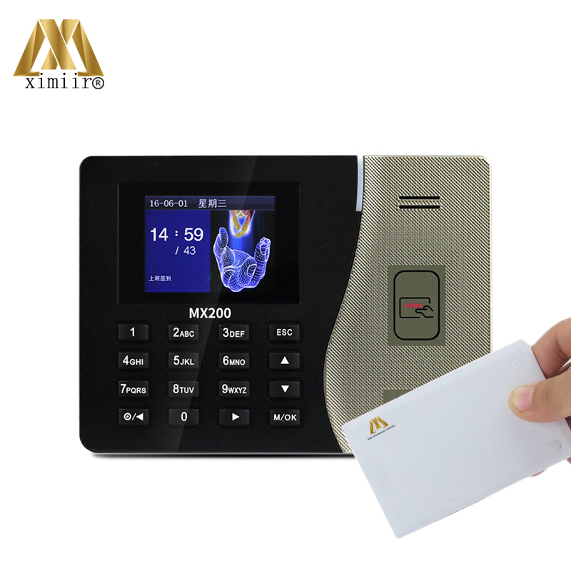 Cheap And Hot ZK MX200 Time Attendance Machine Free Shipping TCP/IP Time Recorder With 13.56MHz IC Card