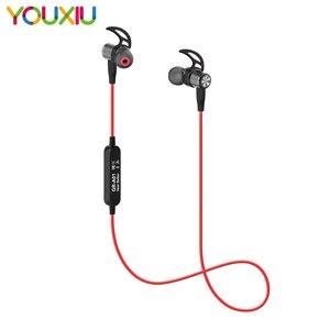 Image 1 - Draadloze Sport Bluetooth V4.2 Hoofdtelefoon Transpiratie Running Oefening Stereo Met Mic Oordopjes Oortelefoon Nekband Voor Iphone 11