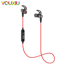 Wireless Sports Bluetooth V4.2 Headphones Sweatproof Running Exercise Stereo with Mic Earbuds Earphones Neckband for iPhone 11