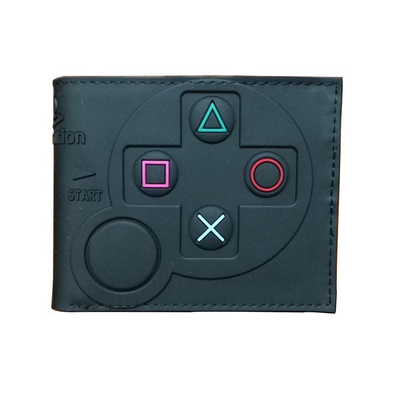 Wallet New Playstation Gamepad Wallet Game Machine Pattern Short Two-fold Wallet Wallet Free Shipping