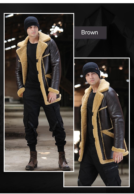 H39c01cbe6a274d2f8de5c8354ac3ddcaf Men Luxury Fur Shearling Coat Yellow Soft Thicken Fur Coat Winter Male Formal Business Fur Sheepskin Jackets