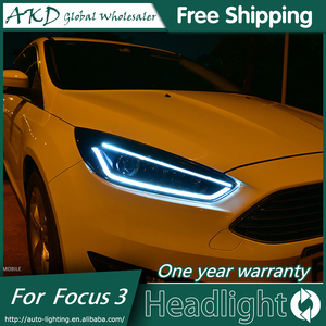 AKD Car Styling for Ford Focus 3 LED Headlights New2015-2018Focus LED Headlight DRL Bi Xenon Lens High Low Beam Parking Fog Lamp