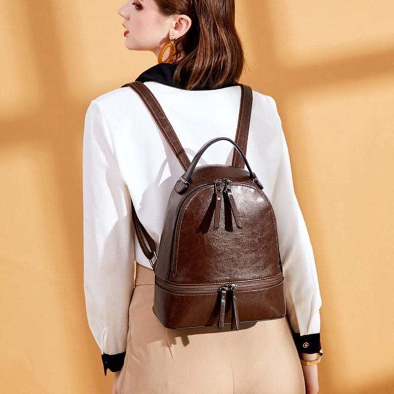 1Pc Women Leather Backpack Purse Travel Daypack College School Bookbag Rucksack New