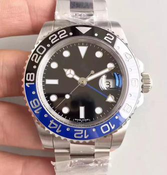 Hot Mens Watch Automatic Mechanical Watches GMT Stainless Steel Blue Red Ceramic Sapphire Glass 40mm Men Watches Wrist Watches hot mens watch automatic mechanical watches gmt stainless steel blue red ceramic sapphire glass 40mm men watches wrist watches