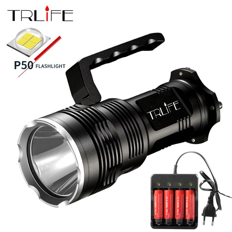 8000Lums LED Lantern Searchlight XHP50 18650 LED Flashlight Torch Light Rechargeable Battery Aluminum Lamp Powerful FlashLights