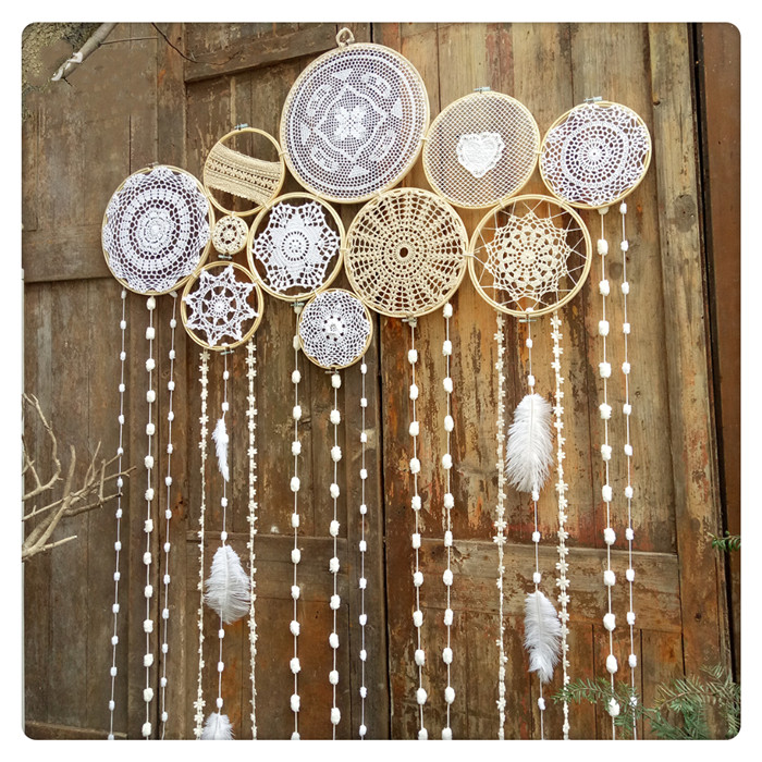 Indian Style Dreamcatcher Handmade Wind Chimes Hanging Pendant Wall Art Hanging wedding Decoration macrame wall hanging