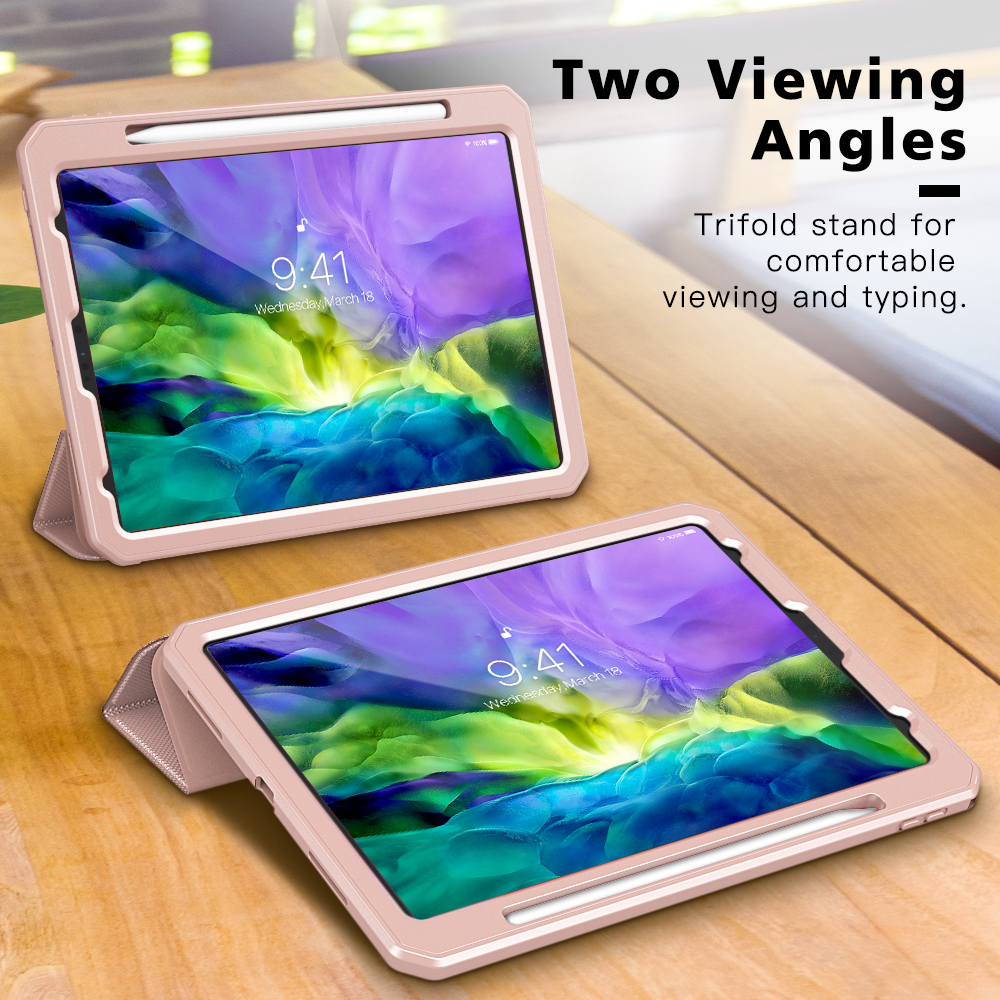 Case for iPad Pro 11 2nd Gen 2020 2018 Built in Screen Protector Full Body Shockproof