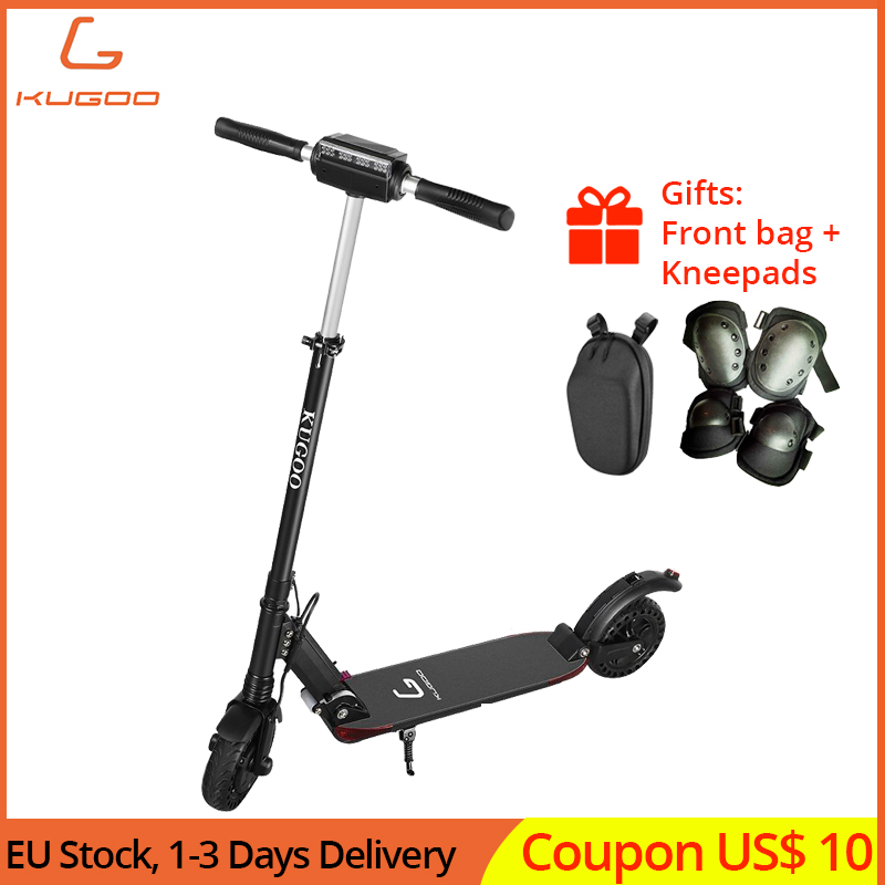 KUGOO S1 PRO Folding Electric Scooter 8 Inch Solid Honeycomb Explosion-proof Tire 350W Motor LCD Display Screen with Carry Bag
