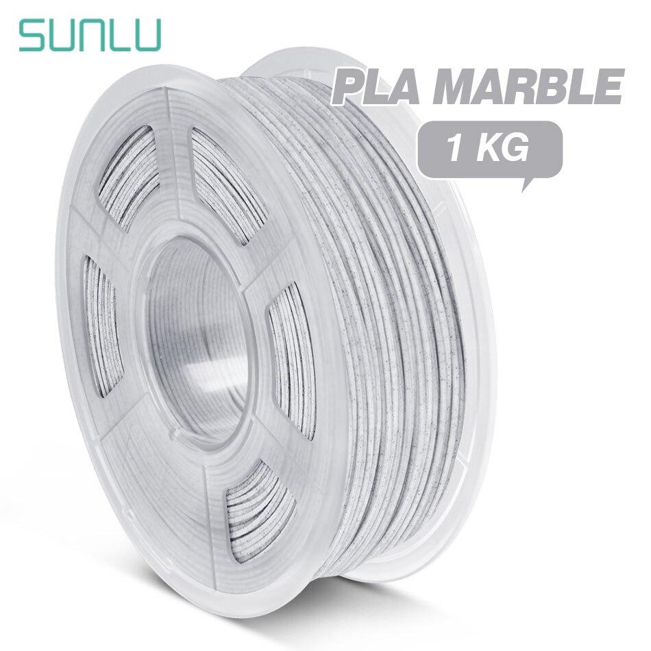 Нить PLA мраморная SUNLU для 3D-принтера, 1 кг, с катушкой, 1,75 ммпла