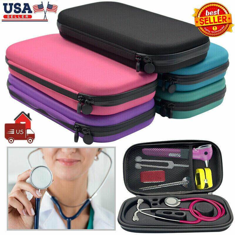 2020 HOT Selling Functional Hard Shell Portable Stethoscope Storage Box Carry Travel Case Bag Hard Drive Pen Medical Organizer