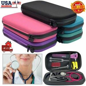 2020 venda quente funcional casca dura portátil caixa de armazenamento estetoscópio carry caso viagem saco disco rígido caneta organizador médico