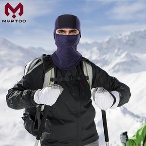 Image 2 - חורף צמר Moto כובע גרב חם אופנוע מוטוקרוס קר מזג אוויר רכיבה על אופניים טקטי מלא מסיכת פן כיסוי קסדה Caps
