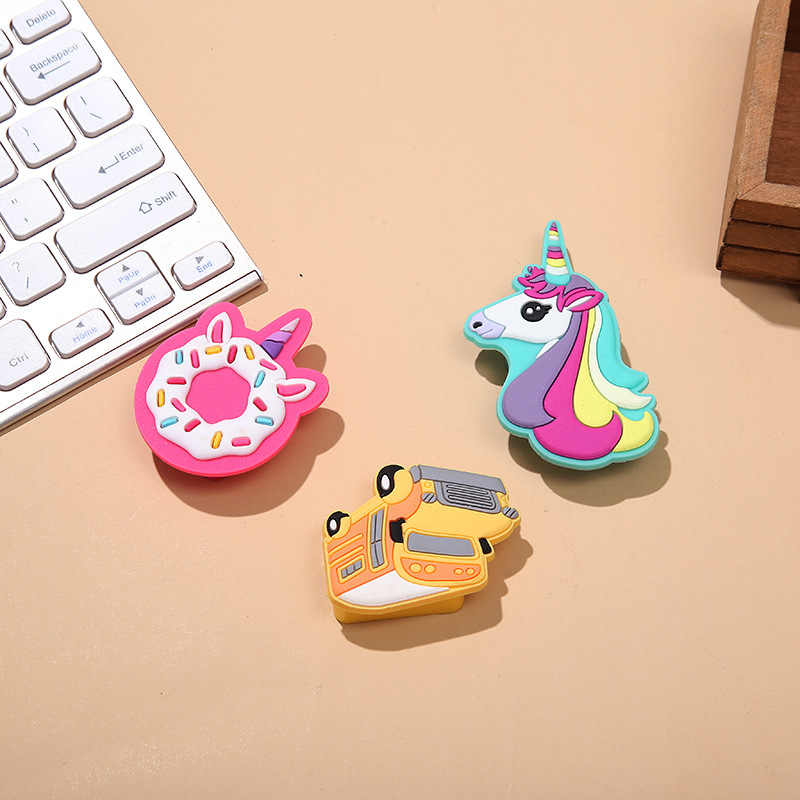 Cute Kawaii Cartoon Unicorn Donuts Pencil Sharpener for Kids Children Gifts Manual Pencil Sharpener Stationery School Supplies