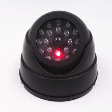Luz led falso câmera preto ao ar livre cctv falso simulação manequim câmera de vigilância em casa dome mini câmera de segurança piscando