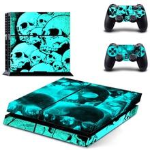 Đầu Lâu Decal Da Cho PS4 Tay Cầm Dành Cho Playstaion 4 Vincy Da Controle Miếng Dán + Tặng 2 Bộ Điều Khiển Bảo Vệ Tay Cầm Chơi Game da