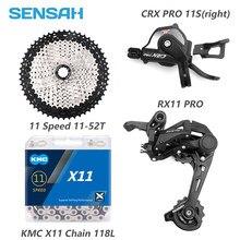 SENSAH CRX 1X11S M7000, горные велосипедные переключатели 11-40/42/46/50T, маховик KMC X11, цепь, 11 скоростей, MTB, звеньевая группа