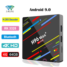 H96 Max plus Android 9.0 Smart TV BOX RK3328 4GB RAM 64GB ROM USB 3.0 Dual WIFI Bluetooth 4.0 4K HD Media Player Set Top Box 4gb ram 64gb rom android 7 1 smart tv box h96 pro rk3328 wifi support netflix youtube usb 3 0 h 265 4k media player set top box