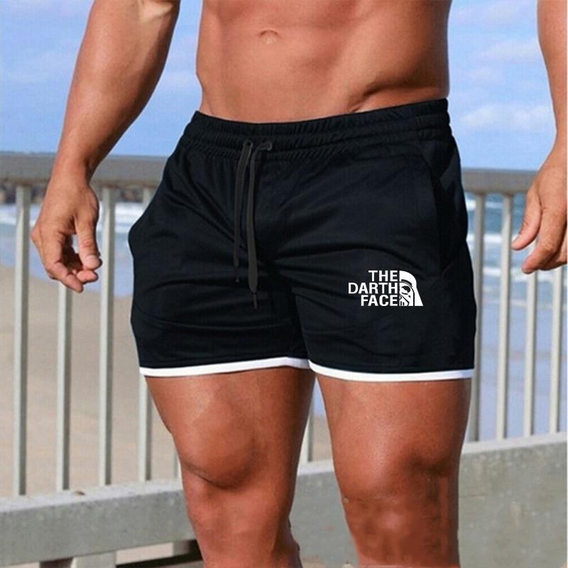 2020 Men Leisure Men Knee Length Shorts Color Patchwork Joggers Short Sweatpants Trousers Men Bermuda Shorts Roupa Masculina