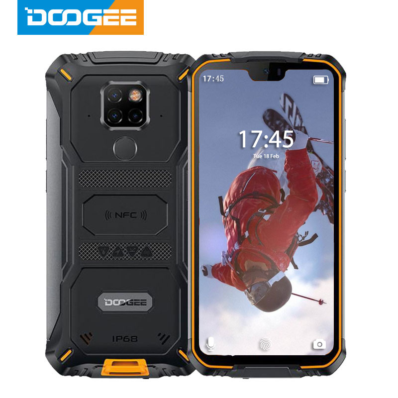<font><b>IP68</b></font> Waterproof <font><b>DOOGEE</b></font> <font><b>S68</b></font> <font><b>Pro</b></font> Rugged Phone Wireless Charge NFC 6300mAh 12V2A Charge 5.9 inch FHD+ Helio P70 Octa Core 6GB 128GB image
