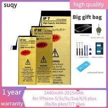 Suqy bateria para iphone 7 plus para iphone 6 s bateria para iphone 5 s se baterias conjuntos de ferramentas de reparo