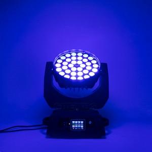 Image 5 - LED הזזת ראש אור לשטוף LED זום לשטוף 36x18W RGBWA + UV צבע DMX שלב נע ראשים לשטוף מגע מסך עבור DJ דיסקו מועדון לילה