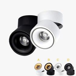 Nova marca led downlight cob 5 w 7 w 9 12 w 360 graus de rotação superfície mounte cob downlight cree led fonte de luz frete grátis