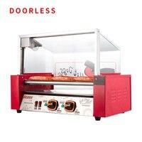 Máquina de assar salsicha elétrica automática máquina de cozimento de cachorro quente torrador salsicha comercial tamanho pequeno wust warmer WY-007