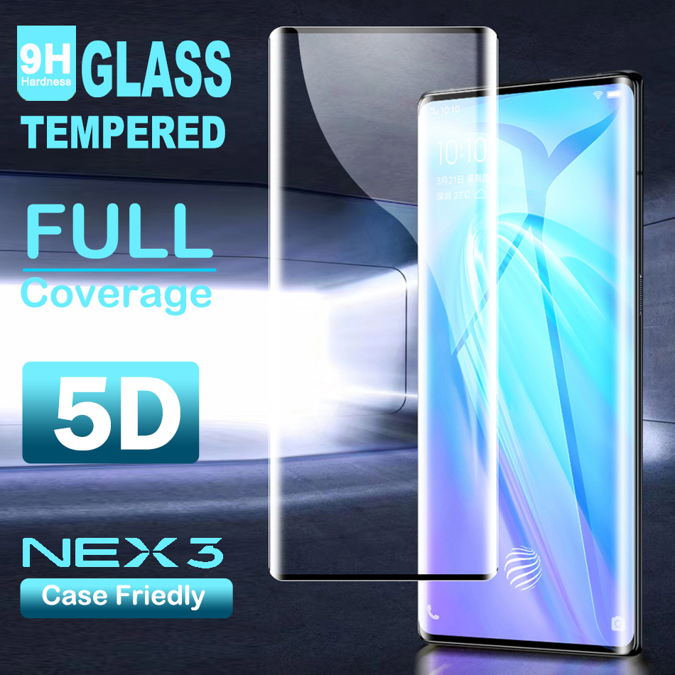 Vivo Nex 3 Tempered Glass For Vivo Nex 3 Screen Protector Full Cover 9H Glass Film For Vivo Nex 3 Glass Protector Film