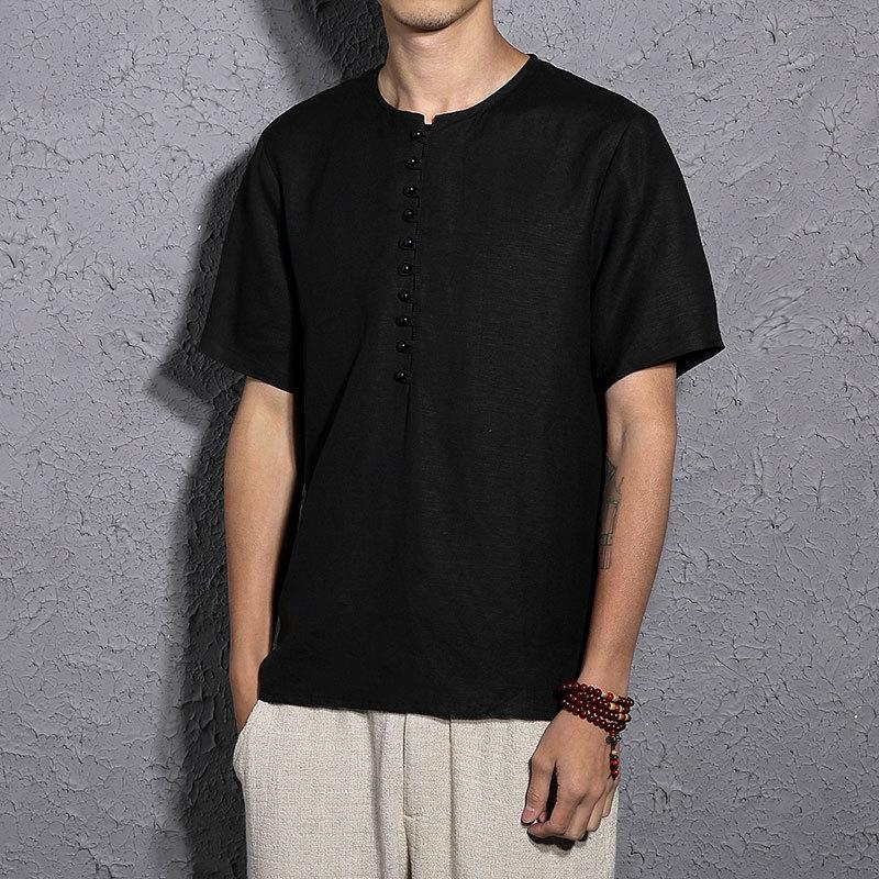 Мужские футболки хорошего качества, Летние повседневные черные мужские футболки больших размеров
