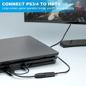 Image 4 - Extensión HDMI macho 3840x2160 UHD 4K a DisplayPort adaptador hembra 15cm Cable con alimentación USB 2,0 para HDMI PC DP Dosplay