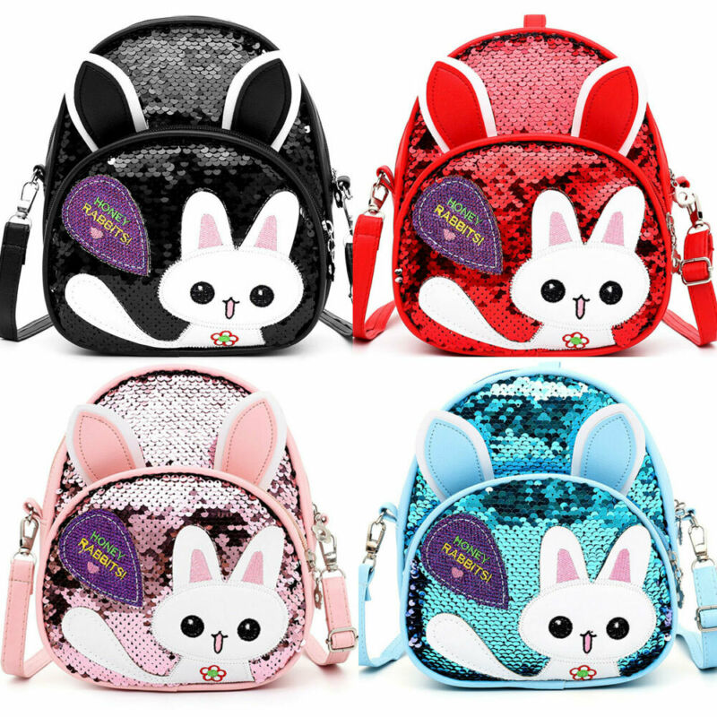 2019 New Lovely Kids Baby Backpack Cartoon Bag Sequined Children Girls Cat School Bag 5 Colors
