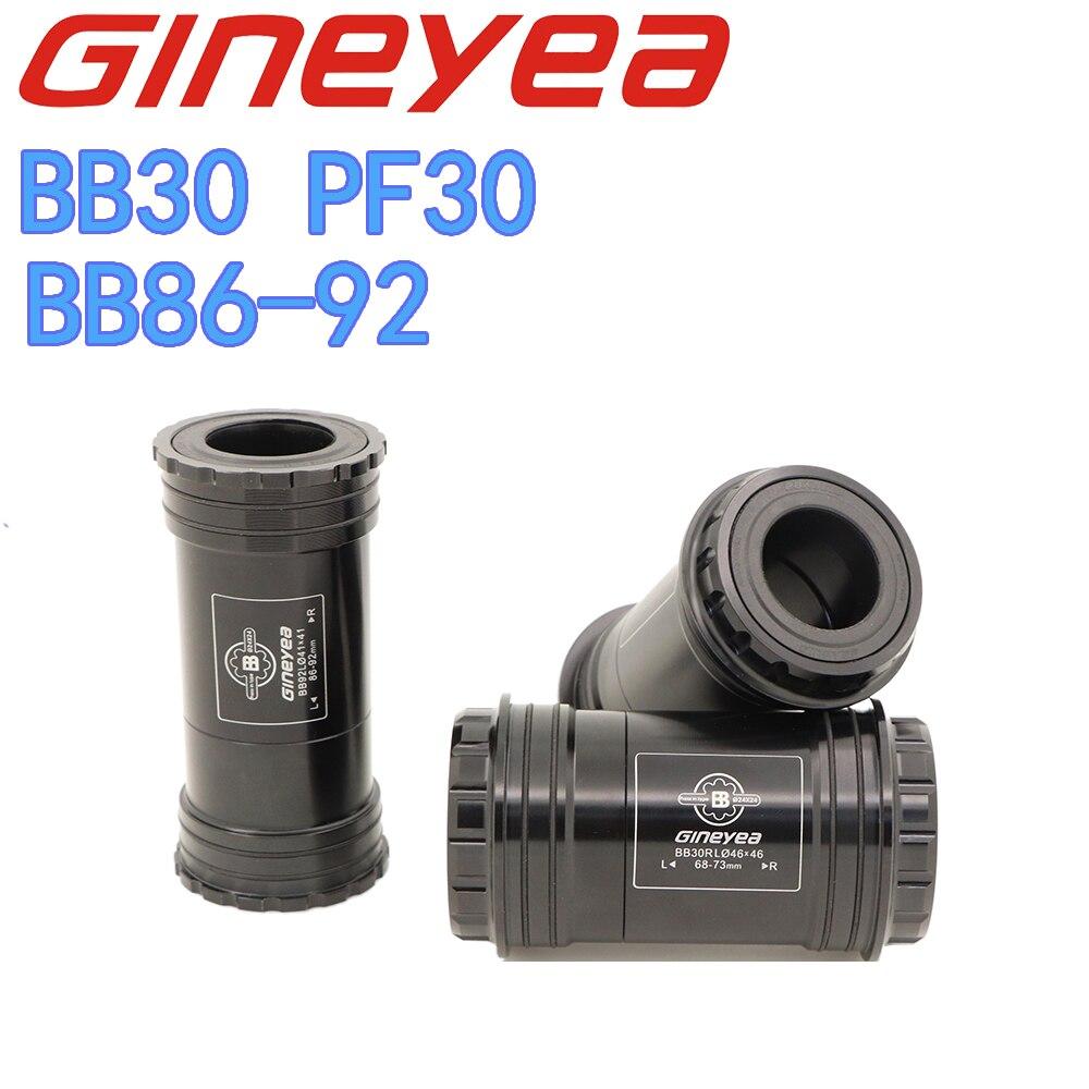 Gineyea Bottom Bracket BB30 PF30 BB86 BB92 Road Bike MTB Ceramic Bearing For Shimano For Sram Gxp