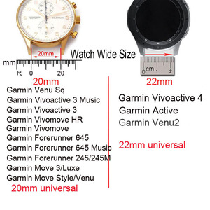 Image 4 - Silicone Strap For Garmin Veun Sq Forerunner 245M 245 645 Music Move 3 Luxe Style Venu Watchband 20mm Camouflage Bracelet