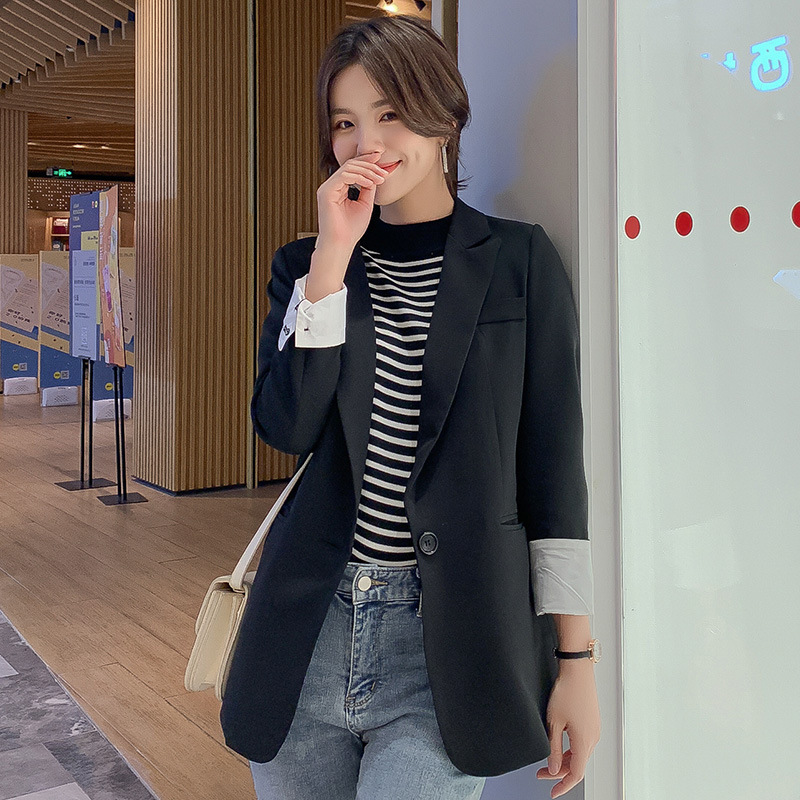 Elegant women's jacket feminine small suit 2020 spring and autumn Korean version of the new casual loose ladies blazer Female