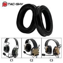 TAC SKY لسلسلة peltor سماعات comtac i ii iii التكتيكية سماعة سماعة اكسسوارات سيليكون غطاء للأذنين وسائد الأذن