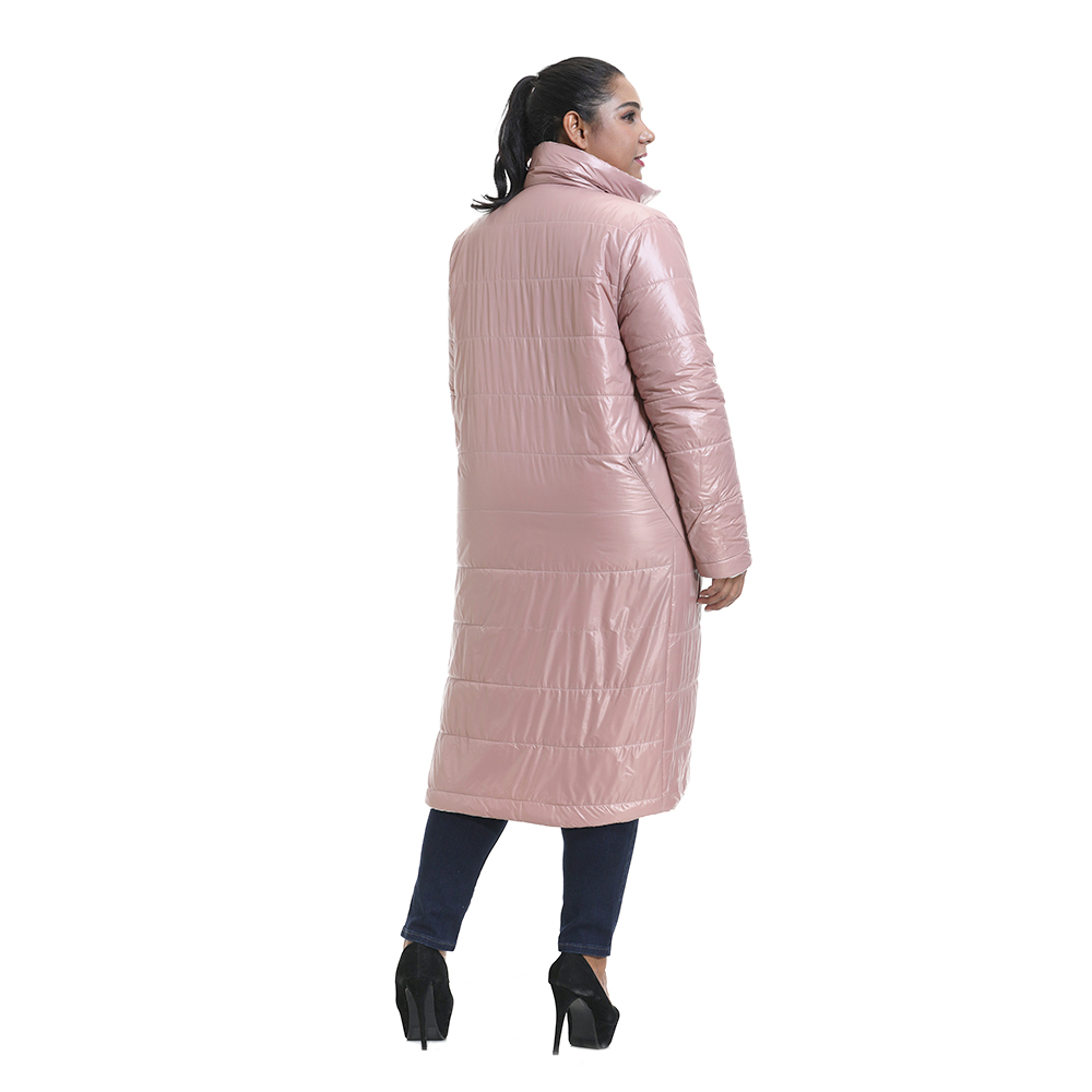 6XL Women Double-side Coat Winter Warm Long Jacket Casual Windproof Plus Size Jacket Ladies Solid Colour Cotton Coat Outwear D30
