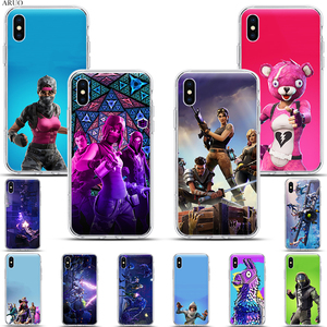 Hot game battle royale fire FN SOFT Silicone Phone Case for iphone 11 11Pro XS Max X XR XS 7 8 6s Plus 5 se monsters lama cover(China)