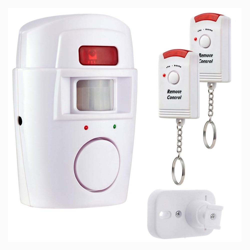 Controles Remotos sem fio PIR Sensor de Movimento Detector de Alarme Com 2 Carvan Galpão Garagem Janela Da Porta Para Casa Sistema de Alarme de Segurança