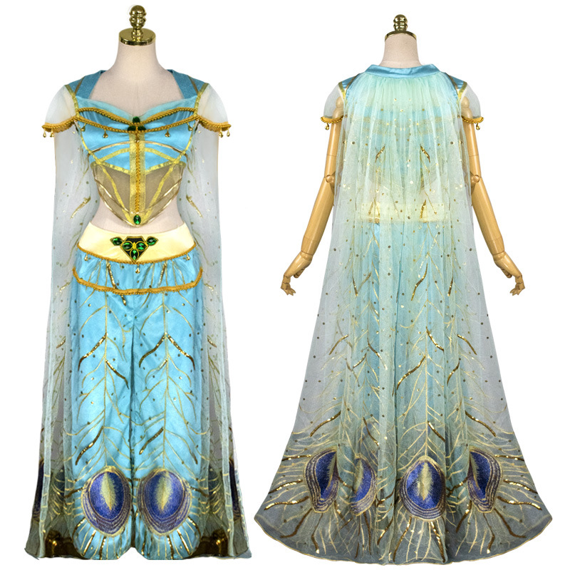 Dress Princess Pocahontas Cosplay Costume Women Girls Tassel Dresses Party Skirt