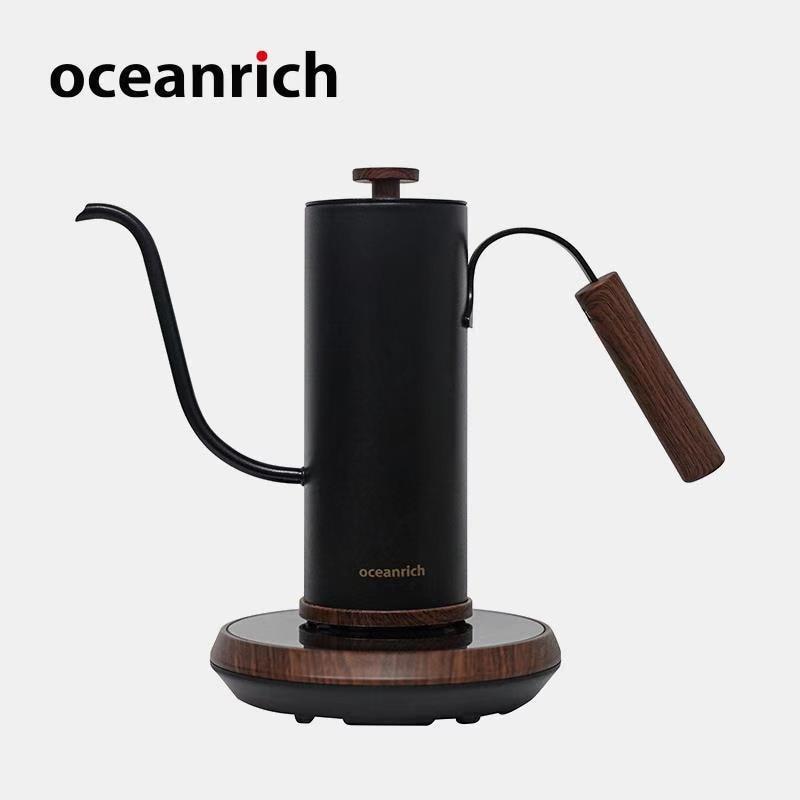 Oceanrich Smart Electric Kettle Intelligent Temperature Control Handbrew Kettle Longspout Pourover Hand Drip Pot Gooseneck 400ml
