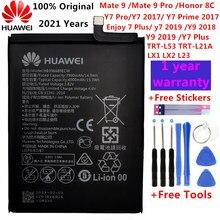 Hua wei original hb396689ecw 4000mah bateria para huawei companheiro 9/9 pro y7 prime y7 2017 honra 8c y9 2018 2019 versão desfrutar 7 plus