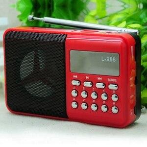 Image 2 - L 988 مكبر هاي فاي مايكرو Usb مكبر صوت صغير مشغل موسيقى مكبر صوت مكبرات صوت الموسيقى مع راديو FM مشغل MP3