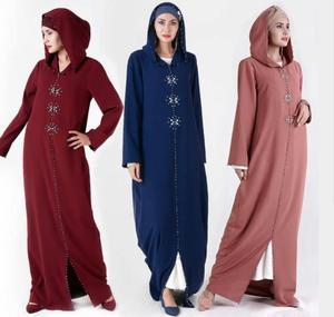 Женская толстовка с капюшоном кафтан джелаба, Дубайский хиджаб, платье для женщин