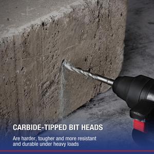 Image 5 - Workpro 8 pcハンマーsdsプラスドリルビットセット超硬チップメトリックドリルビットレンガコンクリート石セメント