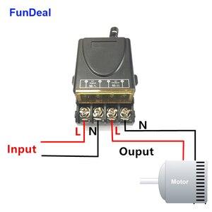 Image 5 - FunDeal 433Mhz RF Relais Draadloze Afstandsbediening Schakelaar AC 220V 1CH 30A Ontvanger Module & 2 Knop Afstandsbediening controle Voor Waterpomp