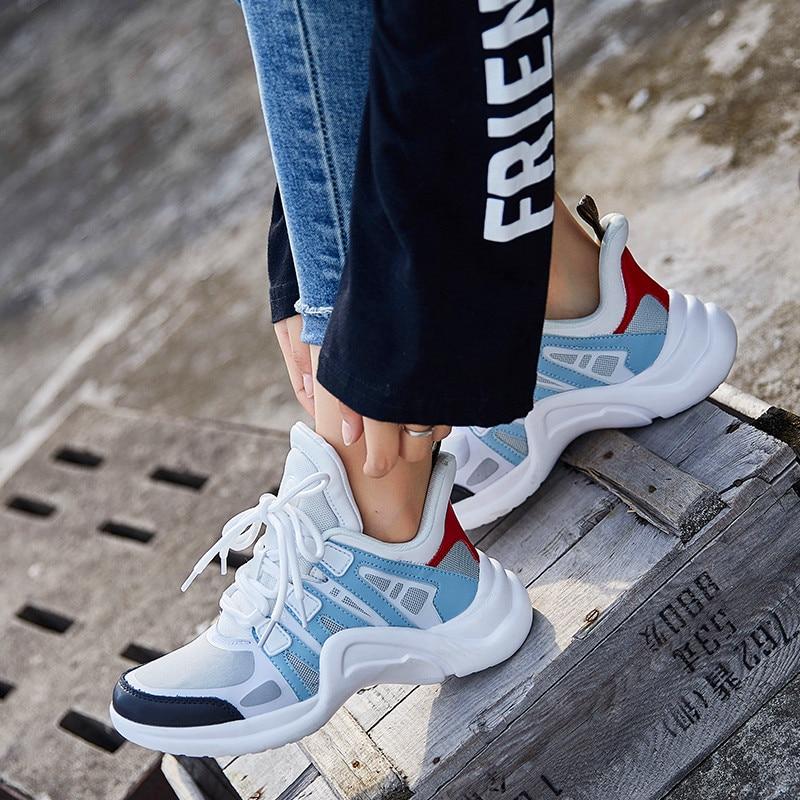 Модная летняя обувь; Женская повседневная обувь из сетчатого материала; Легкие дышащие уличные кроссовки без застежки на плоской подошве; Новинка; chaussure Mujer|Кроссовки и кеды|   | АлиЭкспресс