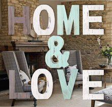 20 CM Home Decor Letter HOME&LOVE Wooden Letter Accessories Handicrafts Home Decoration Ornaments Vintage Country Style Decor