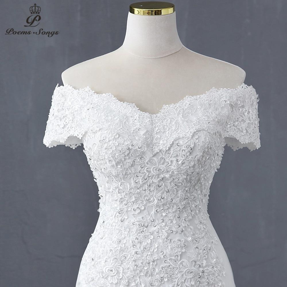 Sweetheart Boat neck style mermaid wedding dress wedding gowns marriage bride dress vestidos de novia robe de mariee white dress