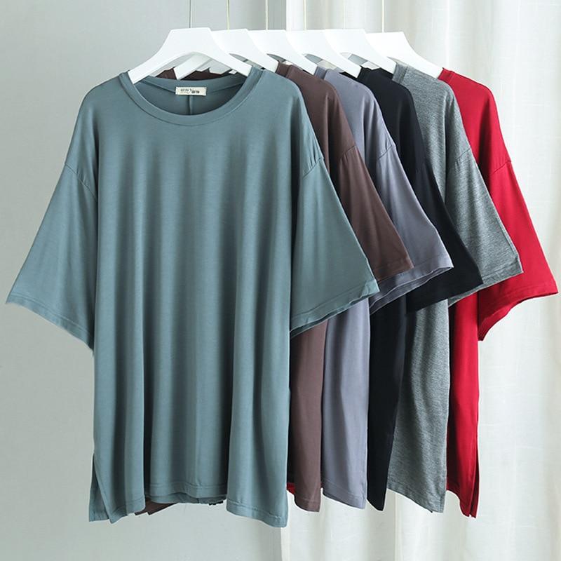 Women Basic T Shirts Free Size Comfortable Soft Modal Oversize Half-sleeve Household Clothes Women's T-shirt Pyjamas