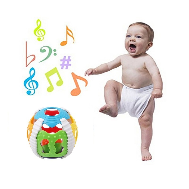 Fun Little Loud Bell Ball Bebe Toy Rattles Baby Intelligence Development Baby Activity Grasping Toy Hand Bell Rattle Baby Toy